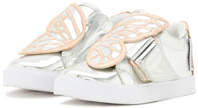 Sophia Webster Bibi Butterfly Low-Top Sneaker, Silver/Multi, Toddler/Youth
