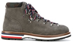 Moncler Men's Brown Leather Ankle Boots.