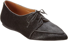 French Sole Malbec Haircalf Flat