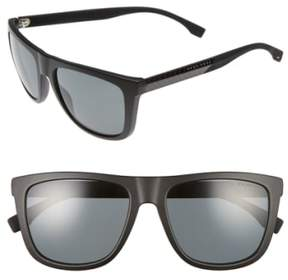 BOSS Men's 56Mm Polarized Sunglasses - Black Carbon