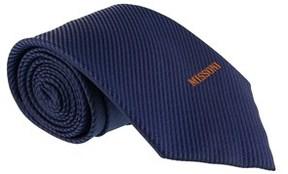 Missoni Interlock Woven Blue Woven 100% Silk Tie.