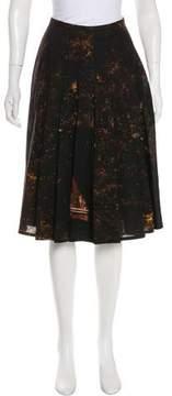 Akris Pleated Wool Skirt
