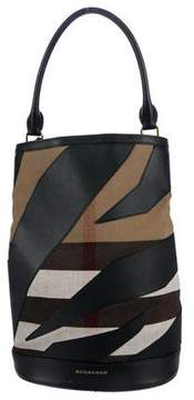 Burberry Leather-Trimmed The Bucket Bag