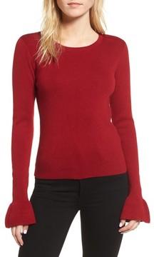 Cupcakes And Cashmere Women's Tina Ruffle Cuff Sweater