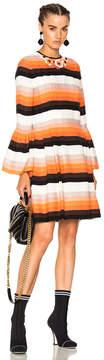 Fendi Striped Long Sleeve Mini Dress
