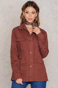 NA-KD Na Kd Cotton Shirt Jacket