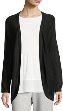 Joan Vass Dolman-Sleeve Open-Front Cardigan