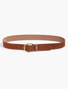 Lucky Brand EMBROIDERED FLORAL BELT