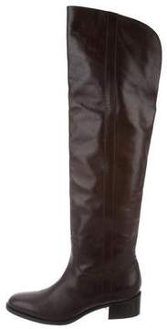 Ralph Lauren Leather Over-The-Knee Boots