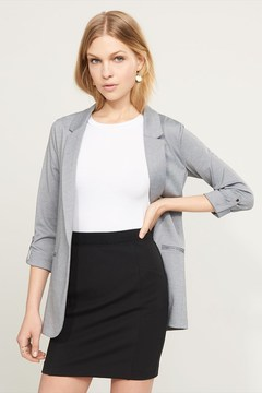 Dynamite Open Blazer with Cuffed Sleeves