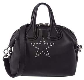 Givenchy Nightingale Small Star Embellished Leather Satchel.