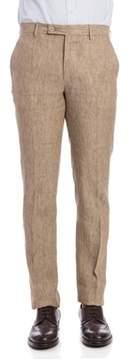 Berwich Men's Beige Linen Pants.