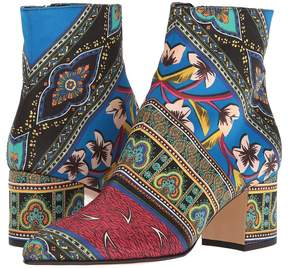 Etro Printed Satin Boot Women's Shoes