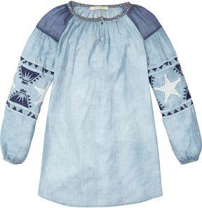 Scotch & Soda Embroidered Tunic Dress