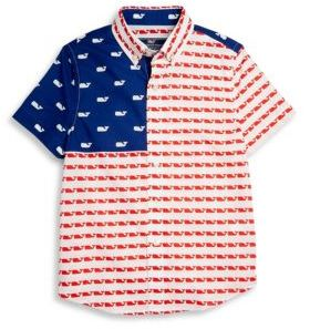 Vineyard Vines Toddler's, Little Boy's, and Big Boy's Whale Cotton Shirt