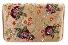 Judith Leiber Embellished Satin Clutch