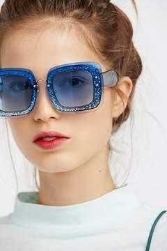 Free People Cosmopolitan Glitter Sunglasses
