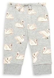Stella McCartney Baby's Swan Print Cotton Sweatpants