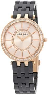 Anne Klein Swarovski Crystals Gold Dial Ladies Watch