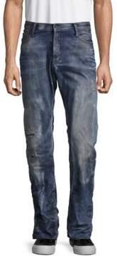 PRPS Straight-Leg Cotton Distressed Jeans