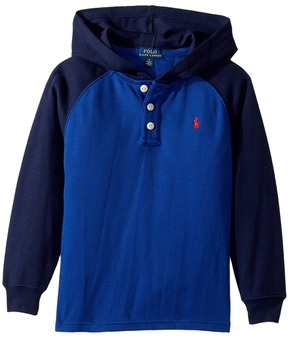 Polo Ralph Lauren Waffle-Knit Cotton Hoodie Boy's Sweatshirt