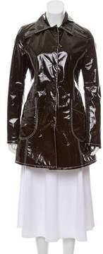 Giamba Vegan Patent Leather Coat