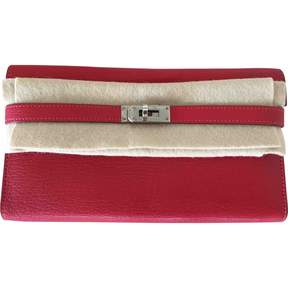 Hermes Kelly leather wallet - RED - STYLE