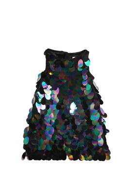 Milly Minis Sequined Stretch Tulle Party Dress