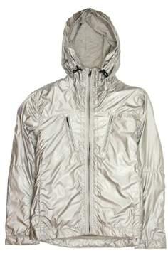 Converse Black Canvas Silver Hooded Jacket