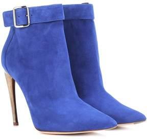 Alexander McQueen Curved horn-heel suede ankle boots