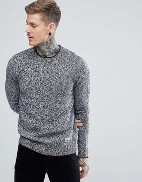 Penfield Gering Crew Sweater Lambswool Tipped in Navy