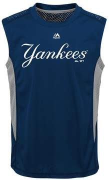 Majestic Boys 8-20 New York Yankees Foul Line Muscle Tee