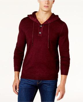 Club Room Men's Merino Wool Hooded Sweater, Created for Macy's