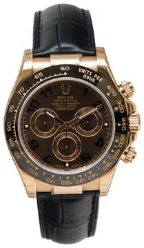 Rolex Cosmograph Daytona 116515CHOAL Chocolate Dial Automatic Black Leather Men