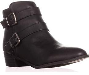 Material Girl Mg35 Cady Double Strap Ankle Boots, Black.