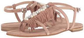 Kennel + Schmenger Kennel & Schmenger Pearl Fringe Flat Sandal Women's Shoes