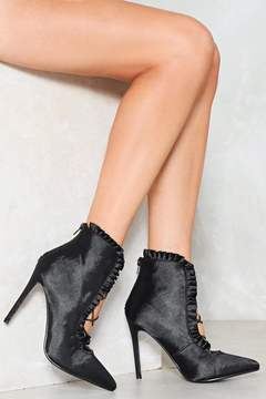 Nasty Gal Sin City Satin Bootie