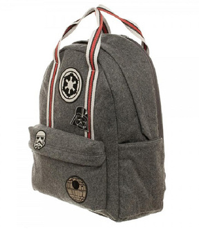 Gray & Red Imperial Backpack