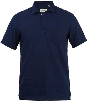 Oliver Spencer Point-collar short-sleeve cotton polo shirt