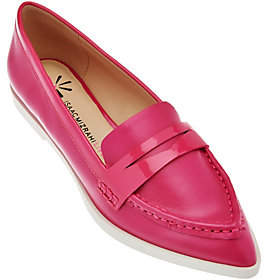 Isaac Mizrahi Live! Leather Featherweight PennyLoafers