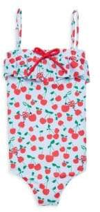 Fendi Little Girl's& Girl's One-Piece Cherry Print Swimsuit
