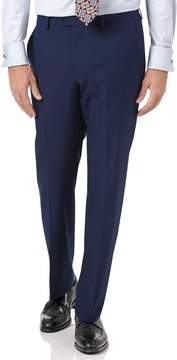 Charles Tyrwhitt Indigo Blue Slim Fit Panama Puppytooth Business Suit Wool Pants Size W34 L38