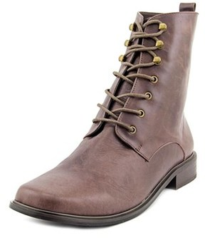 Very Volatile Glasglow Women Square Toe Leather Brown Boot.