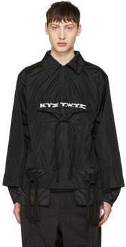 Kokon To Zai Black Gathered Pocket Shirt