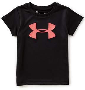 Under Armour Little Girls 2T-6X Big Logo Short-Sleeve Tee