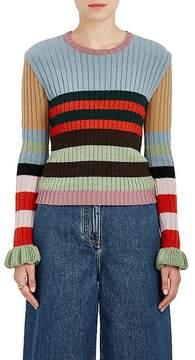 Valentino Women's Striped Rib-Knit Virgin Wool Sweater
