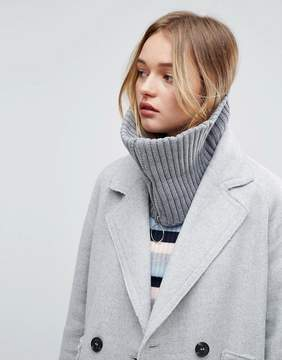 Asos Short Zip Up Infinity scarf
