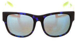 Matthew Williamson Reflective Wayfarer Sunglasses