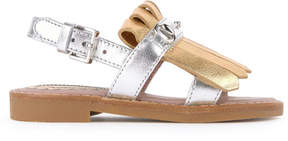Gucci Leather sandals with fringes
