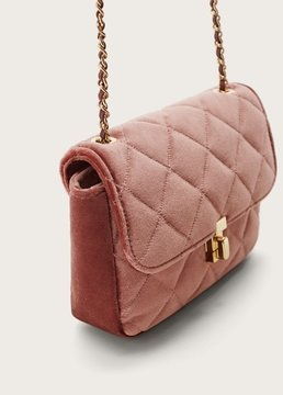 Violeta BY MANGO Velvet bag